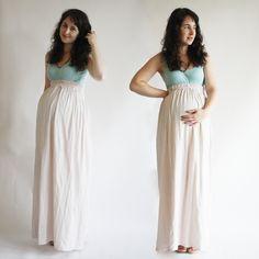 Jersey Maternity Maxi skirt   DIY maternity