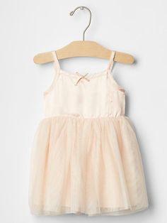 Ballet mix-fabric dress