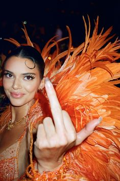 poisonedsequin:kendall jenner by frank ocean at the met gala. Boujee Aesthetic, Orange Aesthetic, Bad Girl Aesthetic, Aesthetic Collage, Aesthetic Vintage, Aesthetic Photo, Aesthetic Pictures, Aesthetic People, Aesthetic Fashion