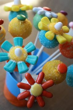 Flower Power Candy Cake Pops