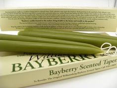 The tradition is that once you light bayberry candles you must let them burn out. It is bad luck to blow them out before they are done.