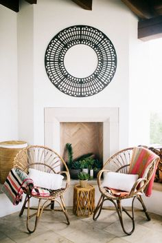 Themed fiesta décor with Mexican blankets and colorful pillows