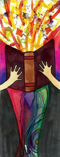 2014 Teen Summer Reading Art Contest Winner: Bookmark by Flor Vega, age 15, John F. Kennedy High School