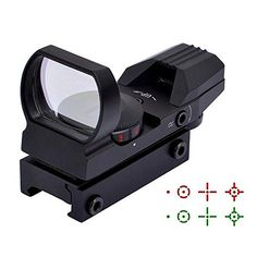 Tactical Red and Green Dot Reflex Sight Scope with 4 Reticles for Airsoft Hunting Rails) -- Awesome products selected by Anna Churchill Tactical Scopes, Tactical Rifles, Hunting Scopes, Hunting Rifles, Green Dot, Red Green, Lima, Red Dot Sight, Picatinny Rail