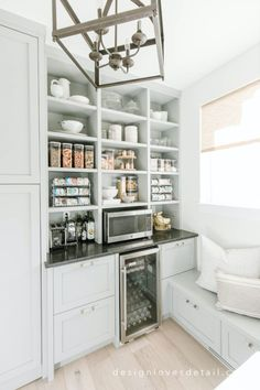 Organization: Butler's Pantry Updates – Design Loves Detail Kitchen Butlers Pantry, Kitchen Pantry Design, Condo Kitchen, Kitchen Dinning, Butler Pantry, New Kitchen, Kitchen Remodel, Kitchen Island Furniture, Kitchen Islands