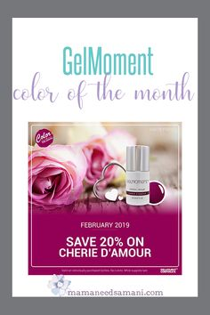 GelMoment February 2019 Color of the Month - Cherie D'Amour