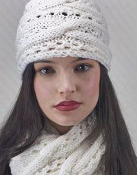 Stay cosy when it's cold outside with this cable-knit hat and scarf set. Free