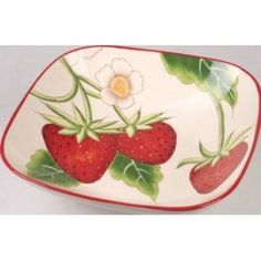 Crafted from durable dolomite, this adorable bowl makes a sweet serving piece and an even better display item. Strawberry Kitchen, Strawberry Recipes, Toy Kitchen, Kitchen Dishes, Kitchen Stuff, Decorative Items, Decorative Bowls, Strawberry Pictures, Tree Bar