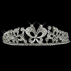 Alloy With Rhinestone And Pearl Flying Butterfly Bridal Tiara – USD $ 19.99