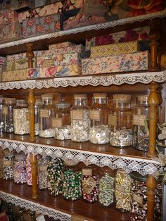 Now THIS is what I call organized! Great display of vintage buttons!