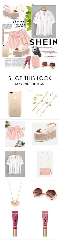"""""""Pleated Detail Printed Blouse - SHEIN.COM"""" by miss-maca ❤ liked on Polyvore featuring Alasdair, L'Oréal Paris, Too Faced Cosmetics and Garance Doré"""