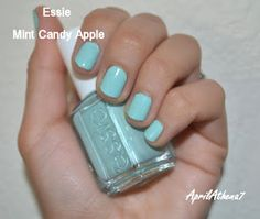 Essie Mint Candy Apple  More swatches on my blog:  http://aprilathena7.blogspot.com/2012/03/pastel-nail-polishes-spring-nail-polish.html