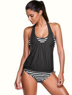 bf31046a3c7 Eres Petula Cindy halterneck triangle bikini top ($290) ❤ liked on Polyvore  featuring swimwear, bikinis, bikini tops, grey, retro …