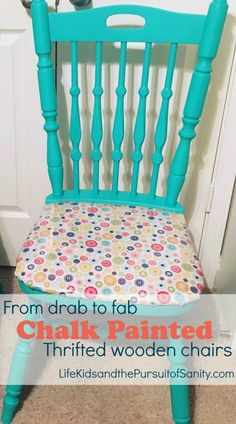 Drab thrift store chairs to fab chalk painted chairs makeover (5)