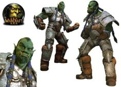 World Of Warcraft Orc Thrall Life-Size Statue Monster Godzilla Horror Sculpture