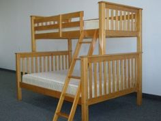 Bunk Bed Twin Over Full Mission Style In Honey (609132252884)