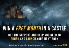Go ahead and enter. Try for a chance to write your next book in a castle! Writing retreat giveaway for #nanowrimo 2017