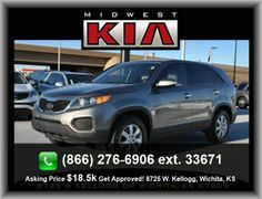 2011 Kia Sorento LX SUV  Variable Intermittent Front Wipers, Black Grille W/Chrome Surround, Stability Control, Power Windows, Clock: In-Dash, 4 Door, Power Steering, 4-Wheel Abs Brakes, Front And Rear Suspension Stabilizer Bars, Rear Center Seatbelt: 3-Point Belt,