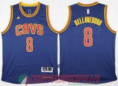 canotte nba poco prezzo Cleveland Cavalier DELLAVEDOVA # 8 blu