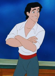 """Prince Eric is the deuteragonist of the 1989 Disney animated feature film, The Little Mermaid. The character is based on the """"prince"""" character of Hans Christian Andersen's story The Little Mermaid, but adapted by writer Roger Allers for Disney's film. Disney Pixar, Disney Wiki, Disney Boys, Disney Films, Disney Animation, Disney Art, Disney Characters, Punk Disney, Animation Movies"""
