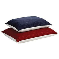 """MidWest Quiet Time e'Sensuals Reversible Polyfill Pillow w/ synthetic Sheepskin and Embossed Paw Print/ Bone Design Burgundy 27"""" x 36"""""""