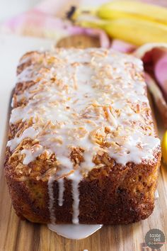 Citrus Glazed Coconut Banana Bread