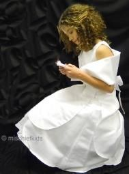 Abigail White Sleeveless Communion Dress and Wrap