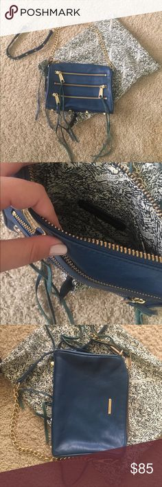 Blue RM crossbody Has been taken GREAT care of, one of my favorite bags but I just don't use anymore, comes with the dust bag! Ask me any questions, no trades, no lowballs Rebecca Minkoff Bags Crossbody Bags