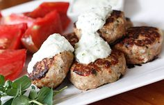 Greek Turkey Meatballs from Skinnytaste. These are super yummy especially with skinnytaste's tzatziki sauce! Turkey Recipes, Chicken Recipes, Meatball Recipes, Meat Recipes, Skinny Recipes, Healthy Recipes, Healthy Cooking, Healthy Eats, Greek Turkey