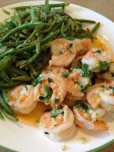 Cilantro Lime Shrimp & Green Beans - Sweet Treat Eats