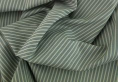 Cotton Fabric, Antique Blue and Natural Striped Cotton Shirting | Britex Fabrics