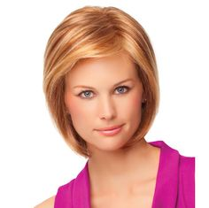Paradox Wig - With a hand-knotted top for varied styling options and a sheer lace front for a life-like hairline, this precision crafted collar length page includes razor tapered bangs that can be styled full or off the face. Find this style & more @ thewigcompany.com