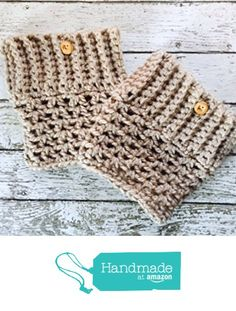 Chunky Boot Cuffs Taupe Button Bulky Neutral Leg Warmers Womens Boot Socks Handmade in USA from MoomettesMagnificents https://www.amazon.com/dp/B01N2G9V09/ref=hnd_sw_r_pi_dp_YdXAybC8RJJTK #handmadeatamazon