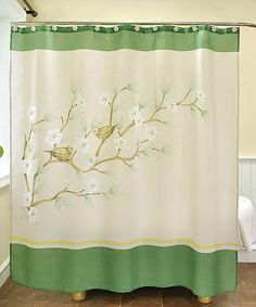 With a chic and serene design, this shower curtain makes for a luxurious bath time experience. Whether looking for a way to transform décor or simply searching for that final touch, hang this piece with the included hooks to effortlessly enhance the bathroom's design.Includes shower curtain and 12 hooks70'' W x 72'' H