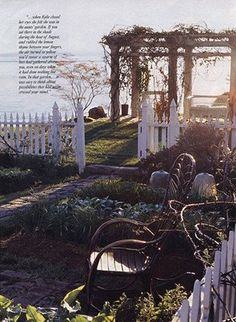 "The garden from 'Practical Magic' will forever be the garden i want.  ""Rosemary by your garden gate, plant lavender for luck, and fall in love whenever you can"""
