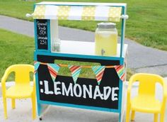 "Turn an old desk into a ""Lemonade Stand"""