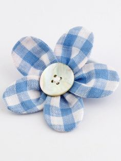 Flower Blue Gingham....check out website
