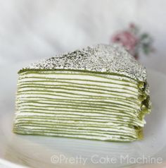 Recipe: 21-Layer Matcha Mille Crêpe. | Pretty Cake Machine