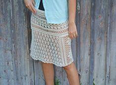 Midi skirt summer crochet skirt beige cotton boho skirts girl sexy beach cover up lace skirts summer trends knitted a line skirt crocheted
