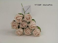 YF72MP  ROSEBUDS IN MOCHA PINK COLOURFAST FOAM 8 X 3 CM Vintage Colors, Vintage Flowers, Pink Uk, Bunch Of Flowers, Rose Buds, Wedding Bouquets, Place Card Holders, Colours, Mocha