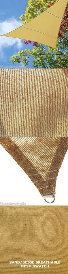 Other Tents and Canopies 179019: New Sand Beige Mesh Sun Shade Sail 16.5 Ft Triangle Uv Blocking Canopy Cover -> BUY IT NOW ONLY: $32.97 on eBay!