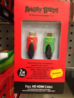 Angry Bird HDMI cable