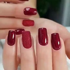 Simple Gel Nails, French Tip Gel Nails, Clean Nails, Elegant Nail Designs, Toe Nail Designs, Fingernail Polish Designs, Nails Design, Gel Polish, Maroon Nails