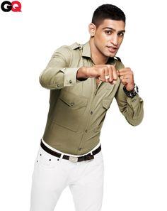 White Jeans with Khaki Button Down