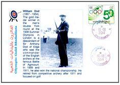 Philatelic Cover Olympic Gold Medalists Tir à l´Arc - Archery - boogschieten William Dod (1867-1954)