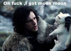 Apparently Jon Snow also knows nothing about wolves...