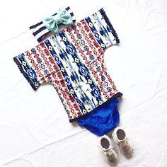 Mohave Tribal Mini Kimono || Baby Kimono || Sizes 6m, 12m, 18m, and 2T