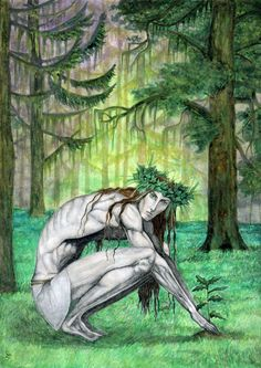 Jarilo- Slavic myth: god of vegetation, fertility, and springtime. he was stolen from his father Perun by Veles, god of the underworld. when Jarilo returned, it marked the beginning of spring.