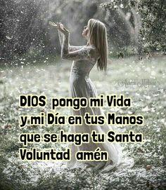 DIOS  pongo mi Vida  y mi Día en tus Manos   que se haga tu Santa Voluntad  amén