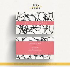 Artist business card design Doodles pattern by TeaAndHoneyStudio